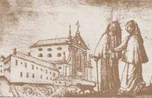 Klasztor Kapucynów w XVIII wieku,