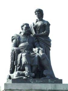 an III Sobieski i Marysieńka na pomniku w Wilanowie.