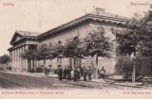 Budynek Giełdy przy ulicy Królewskiej. Zdjęcie z roku 1902.