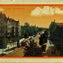 Kamienica Taubenhausa na pocztówce z początku XX wieku.