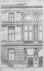 Detal fasady budynku od strony ulicy Mazowieckiej