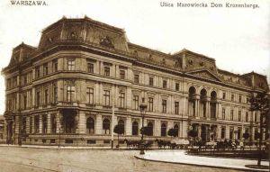 Pałac Kronenberga - Widok fasady pałacu od strony rogu Królewskiej i Mazowieckiej około roku 1910