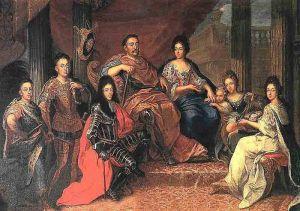 Jan III Sobieski z rodziną