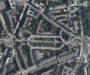 """Jeszcze raz Służewska i okolice obecnie. Z tej perspektywy widać dlaczego osiedle nazywa się """"Latawiec""""."""