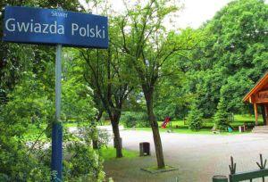 Skwer Gwiazda Polski na Mokotowie.