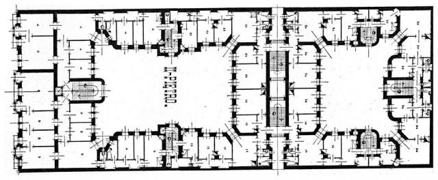 Marszałkowska 81A - Rzut drugiego piętra.
