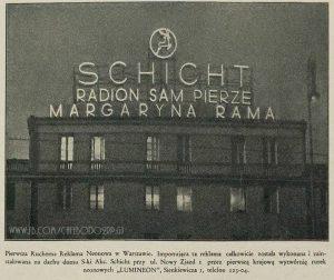 "Reklama na ""Domu Schichta""."