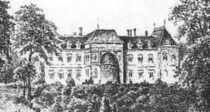 Szkic pałacu od strony Wisły.