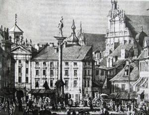 Brama Krakowska.Druga połowa XVIII wieku.