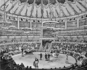 Wnętrze cyrku z czasów, gdy był własnością rodziny Ciniselli.