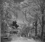 Pomnik króla Jana III Sobieskiego w wilanowskim parku.