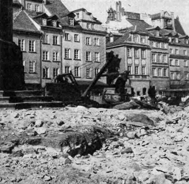 Remont Placu Zamkowego w roku 1977.