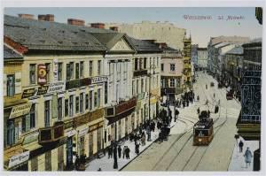 Ulica Nalewki (róg Długiej) przed 1915 rokiem