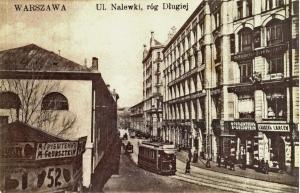 Ulica Nalewki (róg Długiej) przed 1915 rokiem.