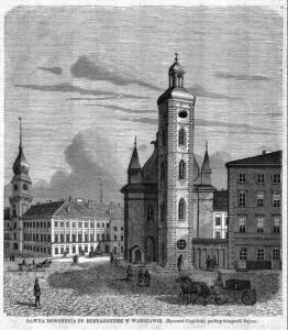 Zabudowania kościoła Św. Klary (Bernardynek) w XVIII w. W 1819 roku zabudowania przekazano Akademii Muzycznej,