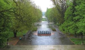 Pomnik stanął na osi widokowej.