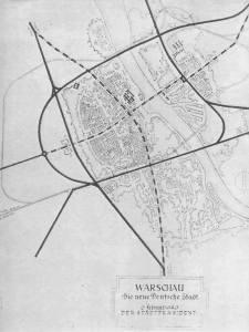 Tak, według założeń niemieckich architektów, miała wyglądać Warszawa. Przepraszam. Nie Warszawa tylko Die Neue Deutsche Stadt Warschau.