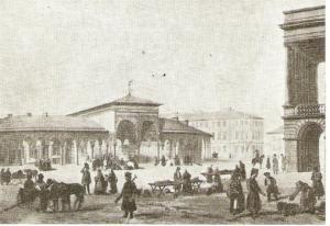 Gościnny Dwór w połowie XIX wieku.