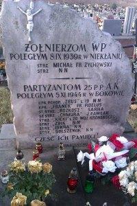 Niekłań Wielki, cmentarz parafialny. Tu spoczywa ostatni, męski potomek Leopolda Stanisława Kronenberga. Foto. Radosław Nowek