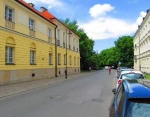 Nowy Przejazd (Daniłowiczowska) - miejsce egzekucji Brauna. Mniej więcej w tym miejscu, gdzie widoczny jest znak drogowy zginęli Emil Braun i Friedrich Pabst.