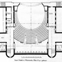 Plan Teatru Polskiego - I piętro