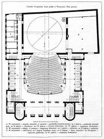 Plan Teatru Polskiego - parter