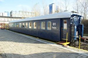 Salonka Bieruta - wagon na bocznicy Muzeum Kolejnictwa.