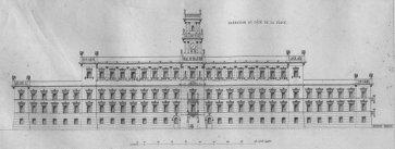 Fasada Zamku Królewskiego od strony placu Zamkowego.