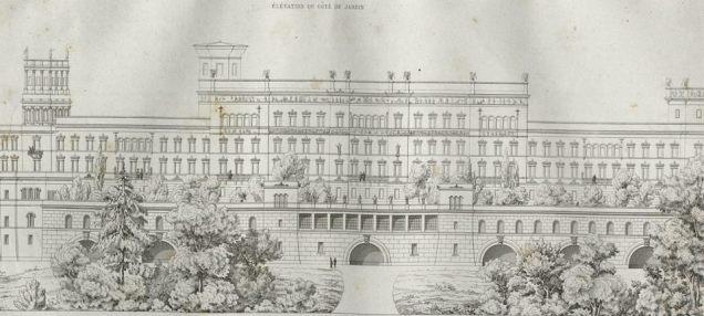 Fasada Zamku Królewskiego od strony Wisły.