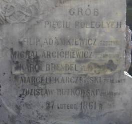 Grób Pięciu Poległych współcześnie.
