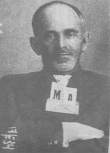 Osip Mandelsztam - zdjęcie zrobione przez NKWD po aresztowaniu w roku 1934.