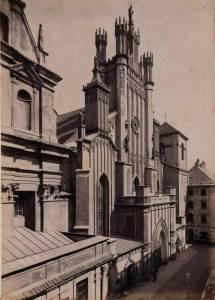 Przebudowana, według projektu Idźkowskiego, fasada katedry św. Jana.