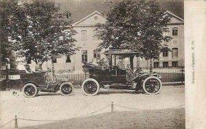 Rok 1902 - pierwsze automobile przed pałacem Branickich w Choroszczy.