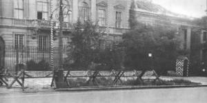Aleje Ujazdowskie - tu urzędował Dowódca SS i Policji na Dystrykt Warszawa - Frantz Kutschera.
