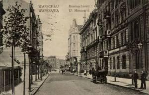 Ulica Moniuszki na początku XX wieku.
