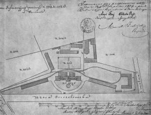 Plan zakładu z roku 1859.