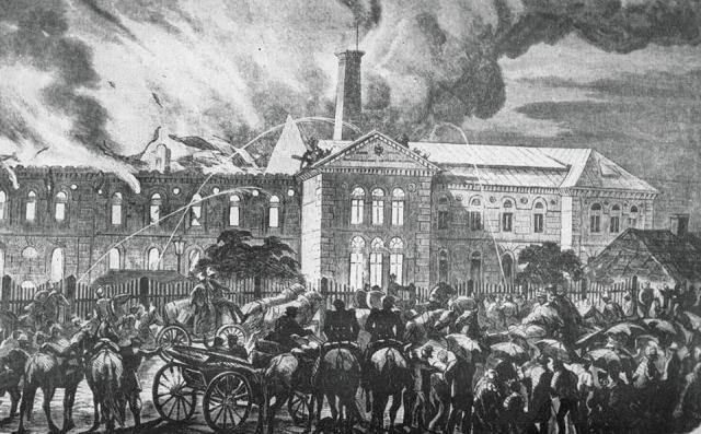 Pożar w roku 1866.