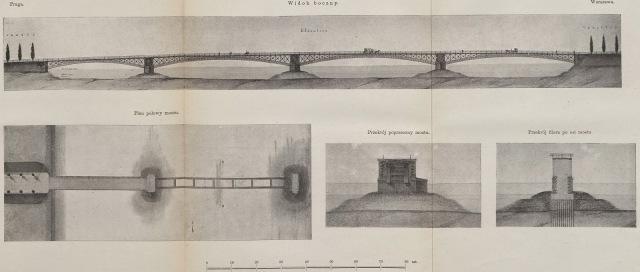 Projekt mostu na Wiśle w Warszawie (1)