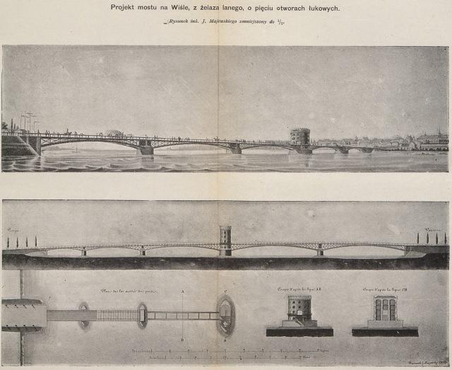 Projekt mostu na Wiśle w Warszawie (3)