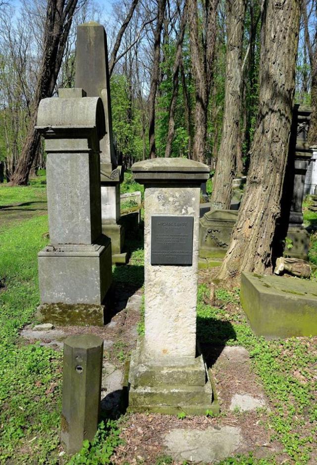 Grób Michała Landego na Cmentarzu Żydowskim przy Okopowej.