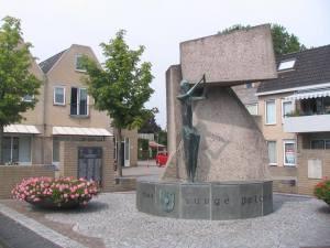 Pomnik w Driel, poświęcony polskim spadochroniarzom.