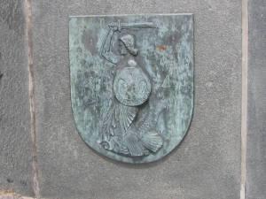 Warszawska Syrenka na pomniku w Driel.