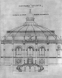 Projekt budynku panoramy z roku 1896.