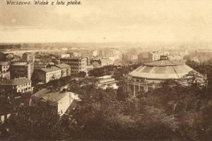 Rotunda na Dynasach. Pocztówka z początku XX wieku.