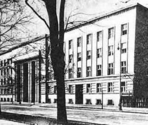 Gmach Ministerstwa Wyznań Religijnych i Oświecenia Publicznego. Zdjęcie przedwojenne. W czasie wojny - siedziba Gestapo.
