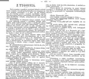 Informacja prasowa o pogromie.