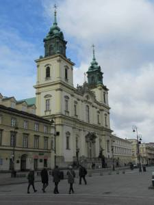 Kościół pod wezwaniem Świętego Krzyża.