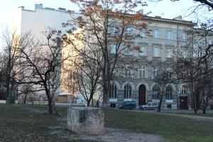 Jedyny ślad po Pałacu Brühla.