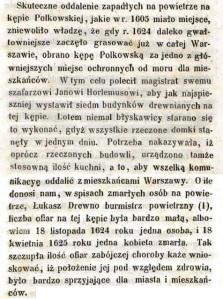 """Opis Kępy Polkowskiej z książki Aleksandra Wejnerta """"Trzy kępy na Wiśle"""" wydanej w roku 1850."""