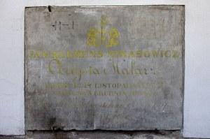 Tablica nagroba Jana Klemensa Minasowicza w Katakumbach. Foto: Mateusz Opasiński